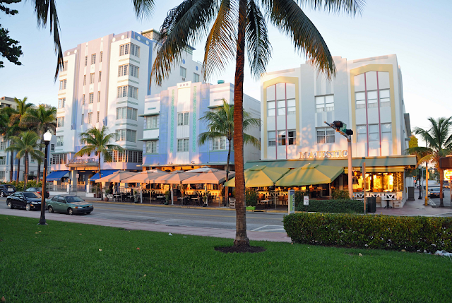 Estabelecimientos en Ocean Drive en Miami