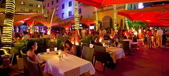 Restaurante en Ocean Drive en Miami